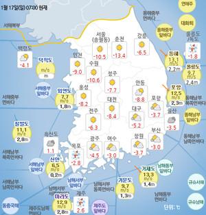 [일기예보]기상청 오늘의 날씨 및 이번주 날씨예보, 내일까지 전국 곳곳 비 나 눈, 19~20일 강추위, 오늘일출시간(오늘 해뜨는시간)