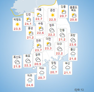 [오늘의 날씨 및 내일날씨]2021년 제14호 태풍 찬투 17일 제주-부산 앞바다, 18일 일본 센다이 상륙!