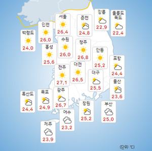 [오늘의 날씨 및 내일날씨]2021년 제14호 태풍 찬투 내일 제주도 직접영향...17일 부산 앞바다-18일 일본 센다이 상륙!